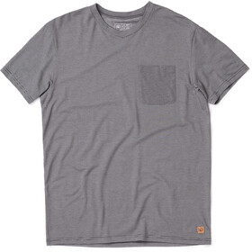 tentree Micro Camiseta con bolsillo para Boulder Hombre, meteorite black micro stripe